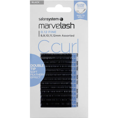 Marvelash C Curl Lashes 0.12 Fine Double Tip, Assorted Length (8, 9, 10, 11, 12mm)
