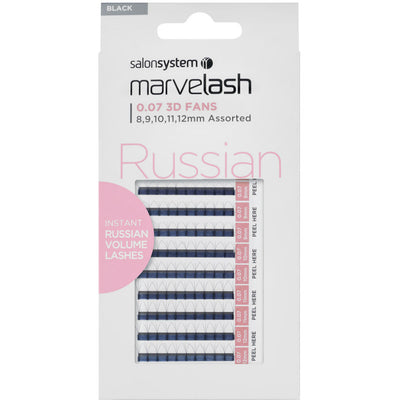 Marvelash Russian Volume Lashes 0.07 3D Fans, Assorted Length (8, 9, 10, 11, 12mm)