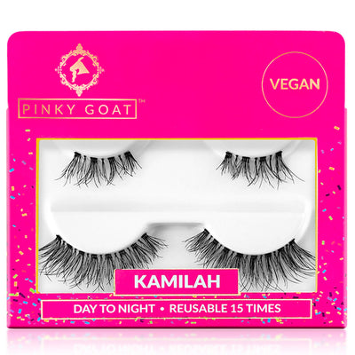 Pinky Goat Lashes Day to Night Duo Pack - Kamilah