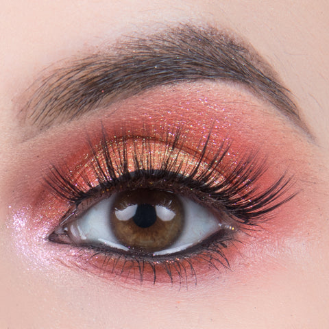 Pinky Goat 3D Silk Collection Lashes - Maysam (Model Shot)