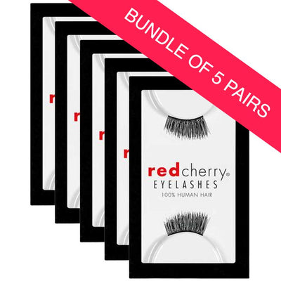 Red Cherry Demi Lashes Style #DS01 Charlie (BUNDLE OF 5 PAIRS)