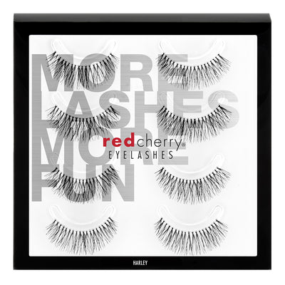 Red Cherry Lashes - #213 Harley Multipack (4 Pairs)