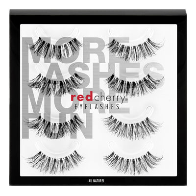 Red Cherry Lashes - Au Naturel Multipack (4 Pairs)