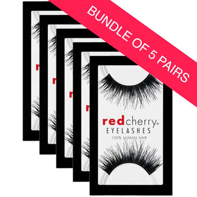 Red Cherry Lashes Style #102 Chakra (BUNDLE OF 5 PAIRS)