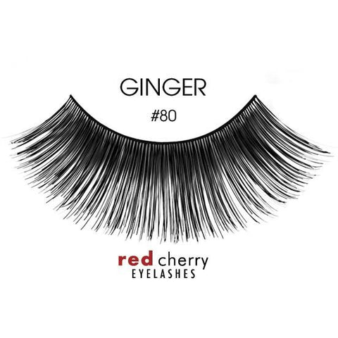 Red Cherry Lashes Style #80 (Ginger)