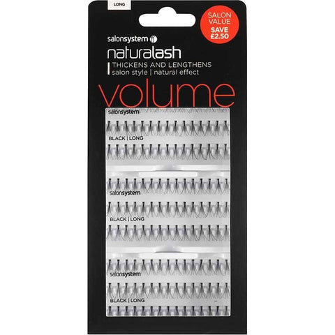 Salon System Individual Lashes - Salon System Individual Lashes SALON VALUE PACK Black Long