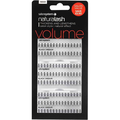 Salon System Individual Lashes - Salon System Individual Lashes SALON VALUE PACK Black Medium