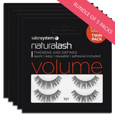 Salon System Lashes 101 Twin Pack (BUNDLE OF 5 PACKS)