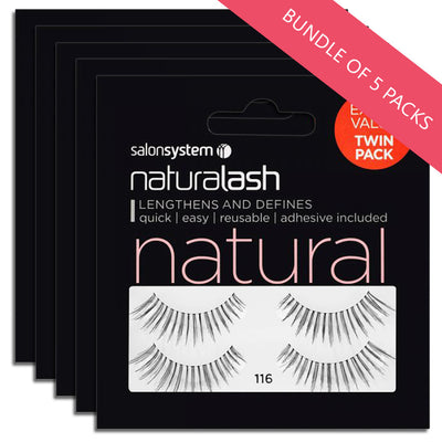 Salon System Lashes 116 Twin Pack (BUNDLE OF 5 PACKS)