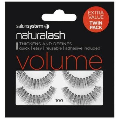 Salon System Naturalash 100 Black Volume (TWIN PACK)