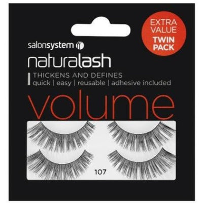 Salon System Naturalash 107 Black Volume (TWIN PACK)