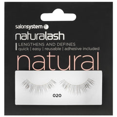 Salon System Strip Lashes - Salon System Naturalash 020 Black Natural
