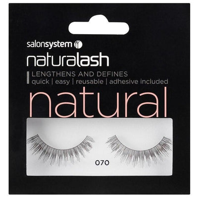 Salon System Strip Lashes - Salon System Naturalash 070 Black Natural