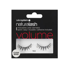 Salon System Strip Lashes - Salon System Naturalash 102 Black Volume