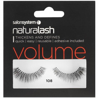 Salon System Strip Lashes - Salon System Naturalash 108 Black Volume