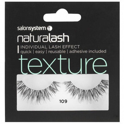 Salon System Strip Lashes - Salon System Naturalash 109 Black Texture
