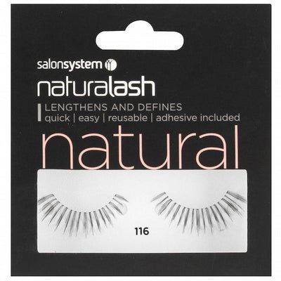 Salon System Strip Lashes - Salon System Naturalash 116 Black Natural
