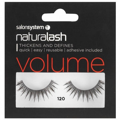 Salon System Strip Lashes - Salon System Naturalash 120 Black Volume