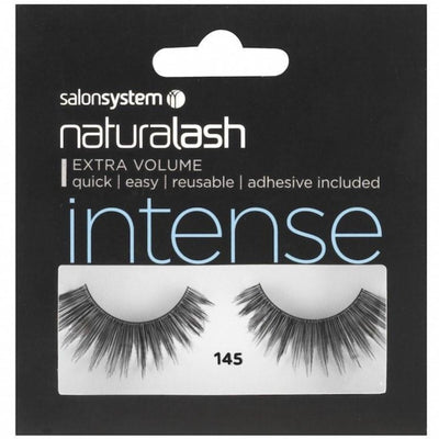 Salon System Strip Lashes - Salon System Naturalash 145 Black Intense