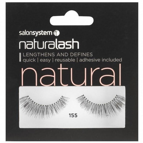 37440125c75 Salon System Strip Lashes - Salon System Naturalash 155 Black Natural
