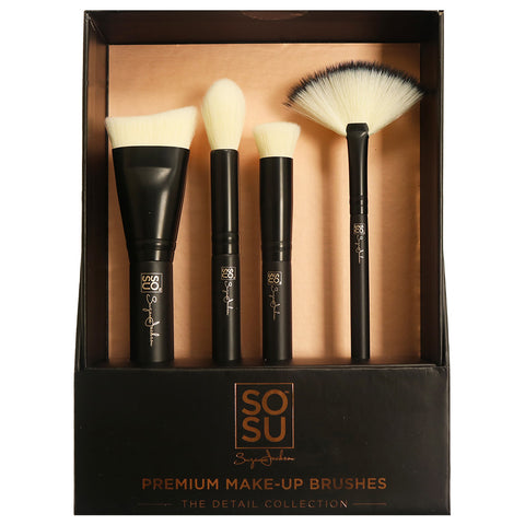 SOSU Premium Makeup Brushes - The Detail Collection (With Packaging)