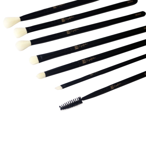 SOSU Premium Makeup Brushes - The Eye Collection (Angled Shot)