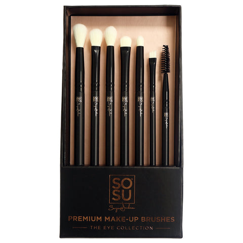 SOSU Premium Makeup Brushes - The Eye Collection (With Packaging)