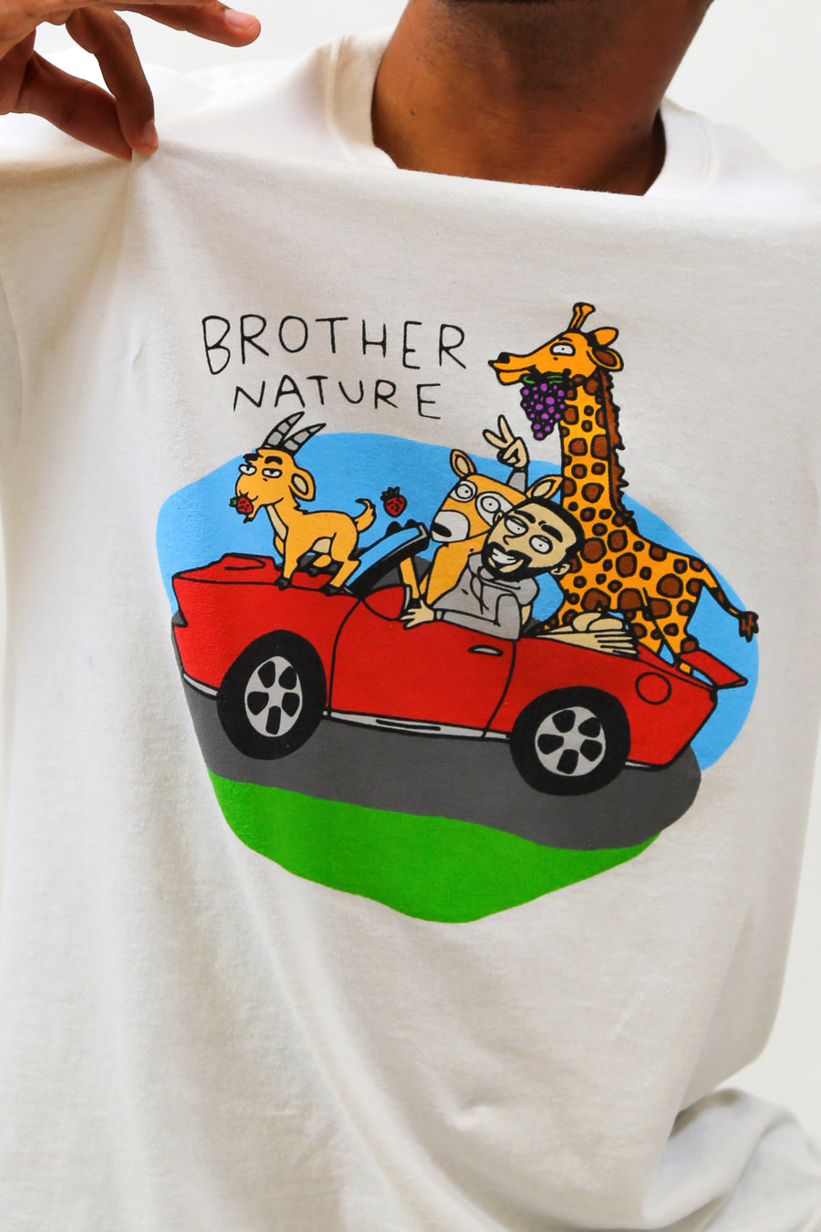 Brother Nature White Tee