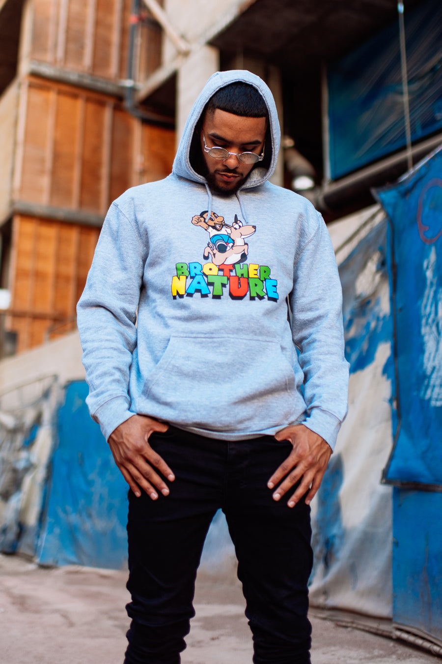 Super Brother Heather Grey Hoodie