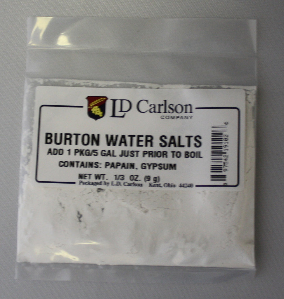 Additives And Clarifiers - Burton Water Salts 1/3 OZ
