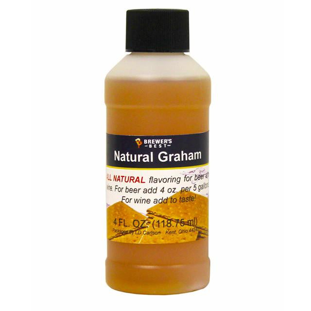 Additives And Clarifiers - Graham Cracker All-Natural Flavoring Extract 4 Oz