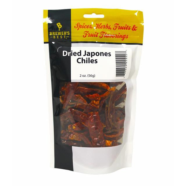 Additives And Clarifiers - Japones Chiles, Dried, 2 Oz (Brewer's Best)