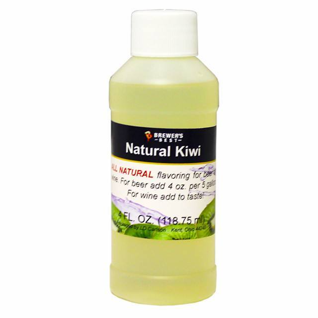 Additives And Clarifiers - Kiwi All-Natural Fruit Flavoring Extract 4 Oz