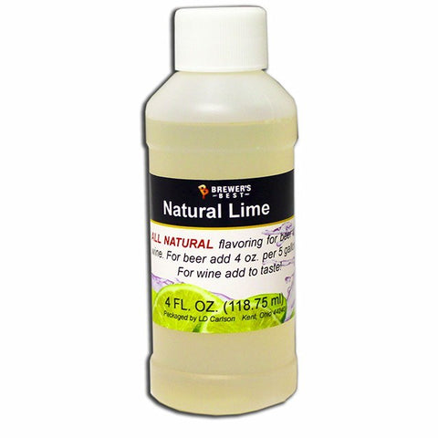Lime All-Natural Fruit Flavoring Extract 4 oz.