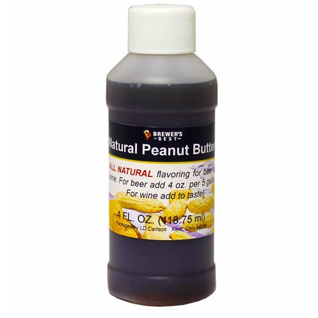 Additives And Clarifiers - Peanut Butter All-Natural Flavoring Extract 4 Oz