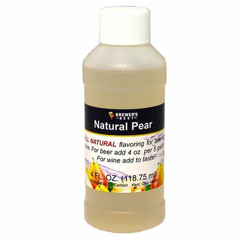 Pear All-Natural Fruit Flavoring Extract 4 oz
