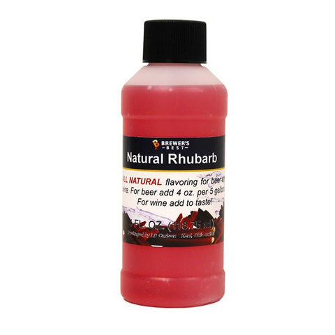 Rhubarb All-Natural Fruit Flavoring Extract 4 oz
