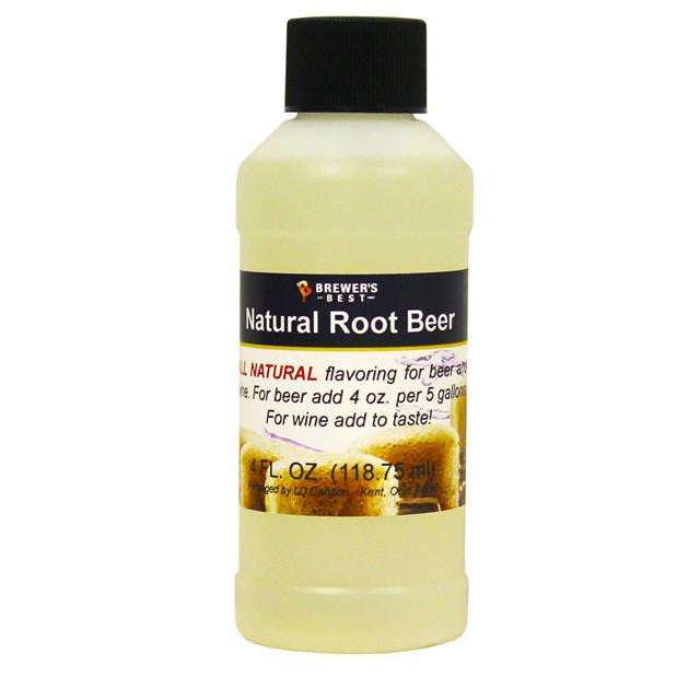 Additives And Clarifiers - Root Beer All-Natural Flavoring Extract 4 Oz