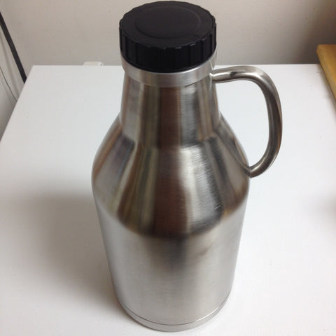 1/2 Gallon Growler, Stainless Steel, Double-Walled