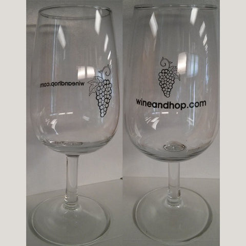 Wine and Hop Shop Wine Glass, 7.25 oz