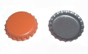 Bottle Caps And Cappers - Crown Caps With Oxy-Liner, Orange, ~150 Count
