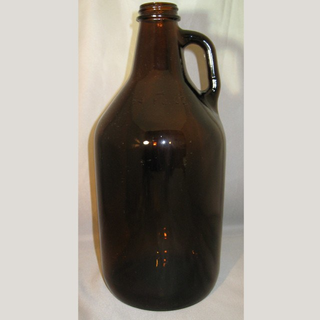 Bottles - 1/2 Gallon Amber Growler, Single