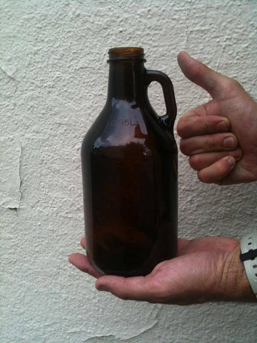 1/4 Gallon Amber Growler, Single