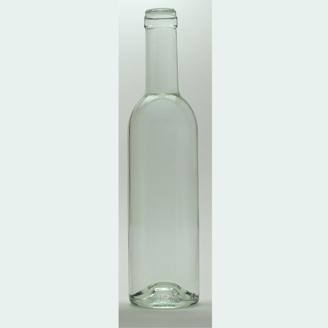 Bottles - 375mL Clear Semi-Bordeaux Bottles, Mid-Punt, 24/Case