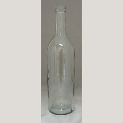 750mL Clear Bordeaux Bottles, 12/Case