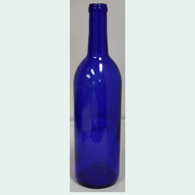 Bottles - 750mL Cobalt Blue Bordeaux Wine Bottles, Case Of 12