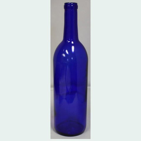 750mL Cobalt Blue Bordeaux Wine Bottles, Case of 12
