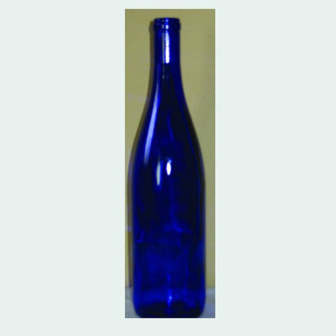 750mL Cobalt Blue Hock Bottles, 12/Case