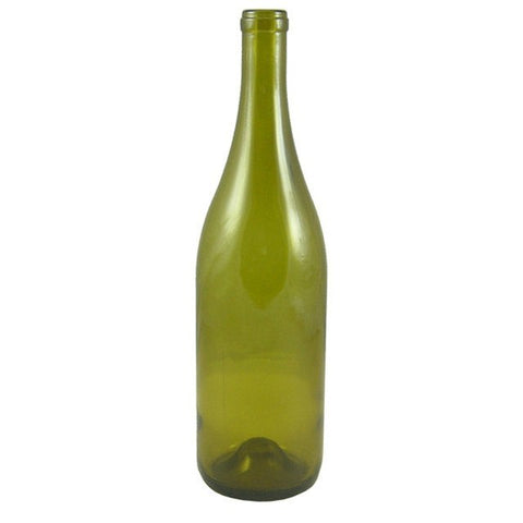 750mL Dead Leaf Yellow Burgundy Wine Bottles, Punted, 12/Case