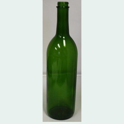 750mL Green Screw Top Bordeaux Wine Bottles, 12/Case